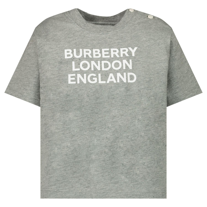 Afbeelding van Burberry 8028814 baby t-shirt grijs