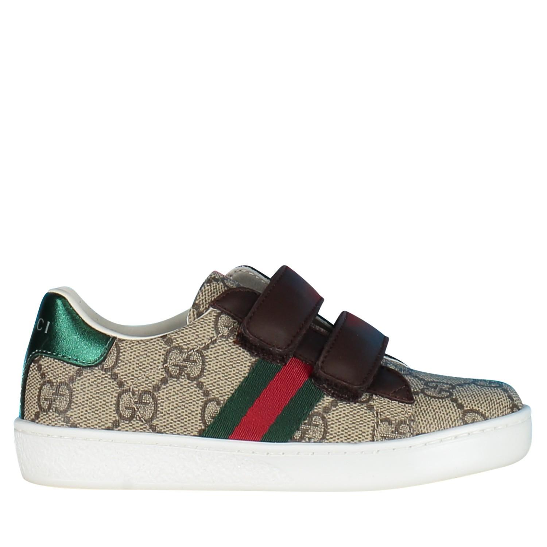 Afbeelding van Gucci 463088 kindersneakers bruin/beige