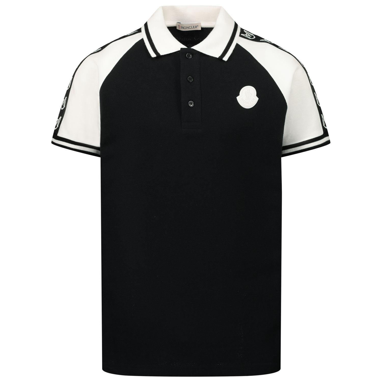 Afbeelding van Moncler 8A71220 kinder polo zwart