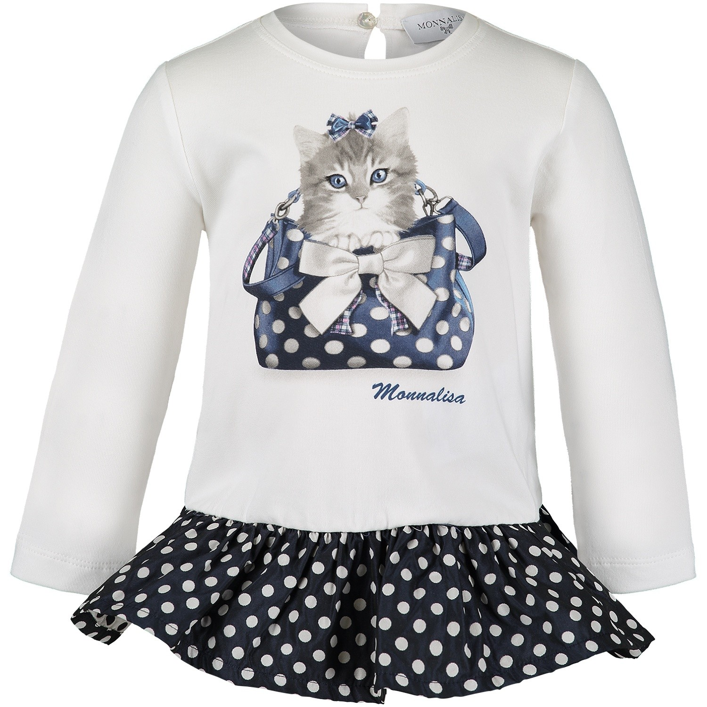 Afbeelding van MonnaLisa 312620PD baby tuniekje off white