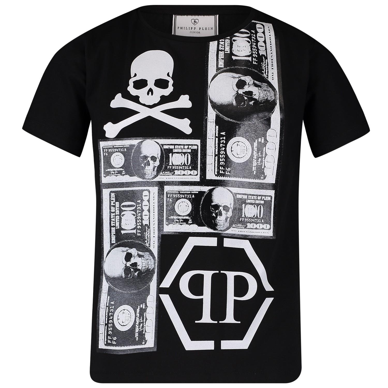 Picture of Philipp Plein BTK0685 kids t-shirt black