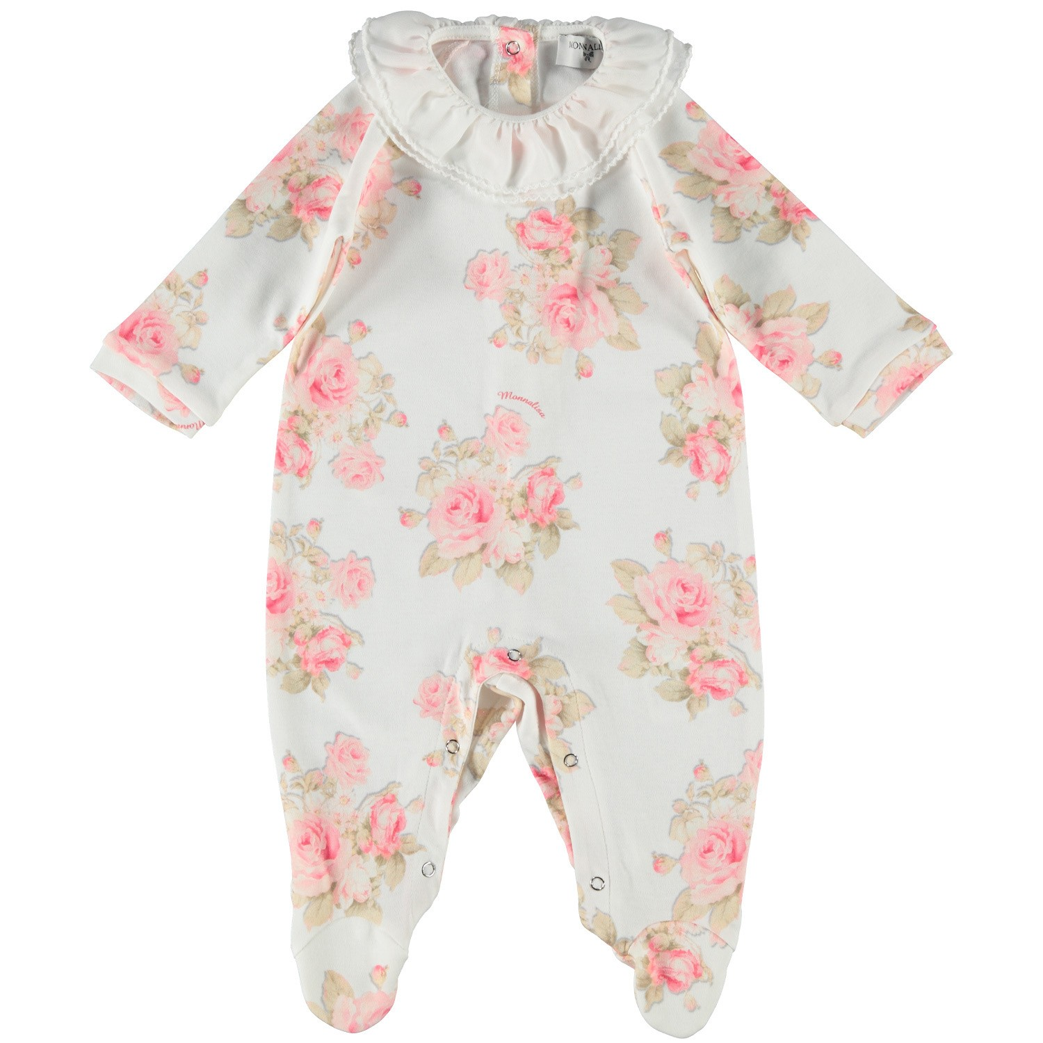 Picture of MonnaLisa 35CTUC baby playsuit white