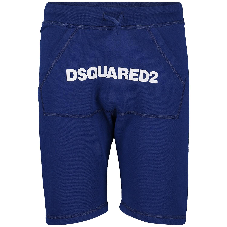 Afbeelding van Dsquared2 DQ03B1 kinder shorts cobalt blauw