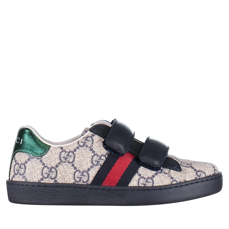 Afbeelding van Gucci 463090 9C220 kindersneakers blauw