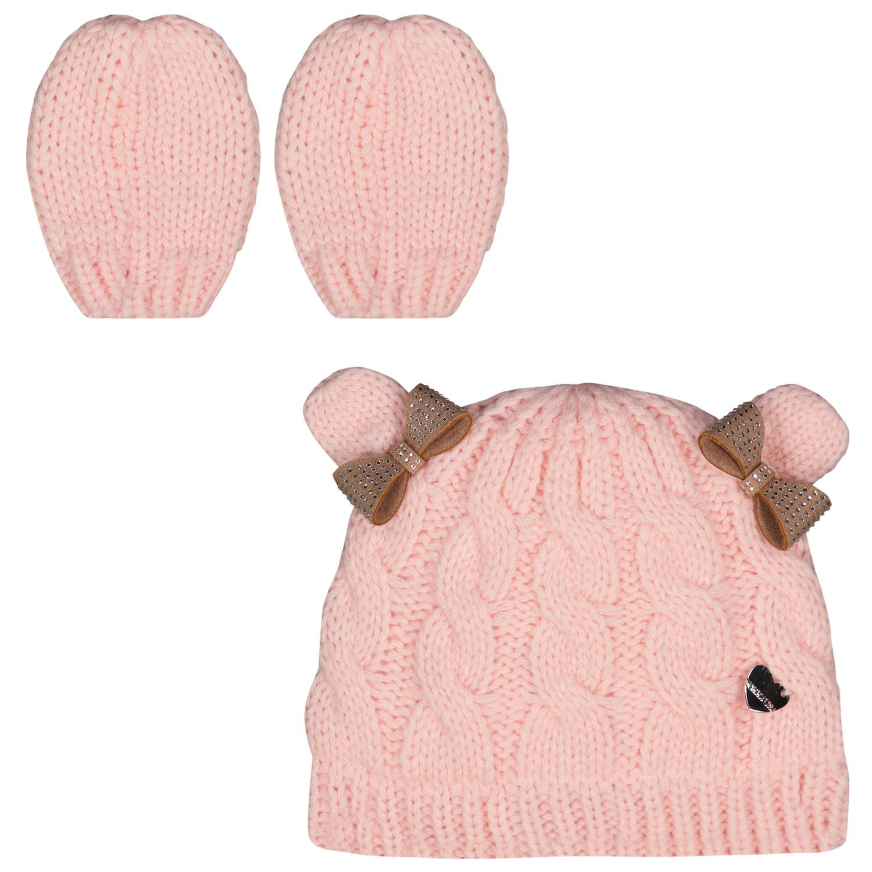 Afbeelding van MonnaLisa 398008 babymutsje licht roze