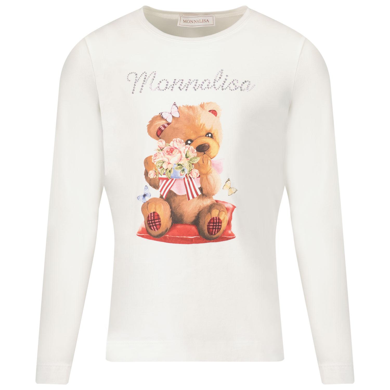 Afbeelding van MonnaLisa 118610SI kinder t-shirt off white