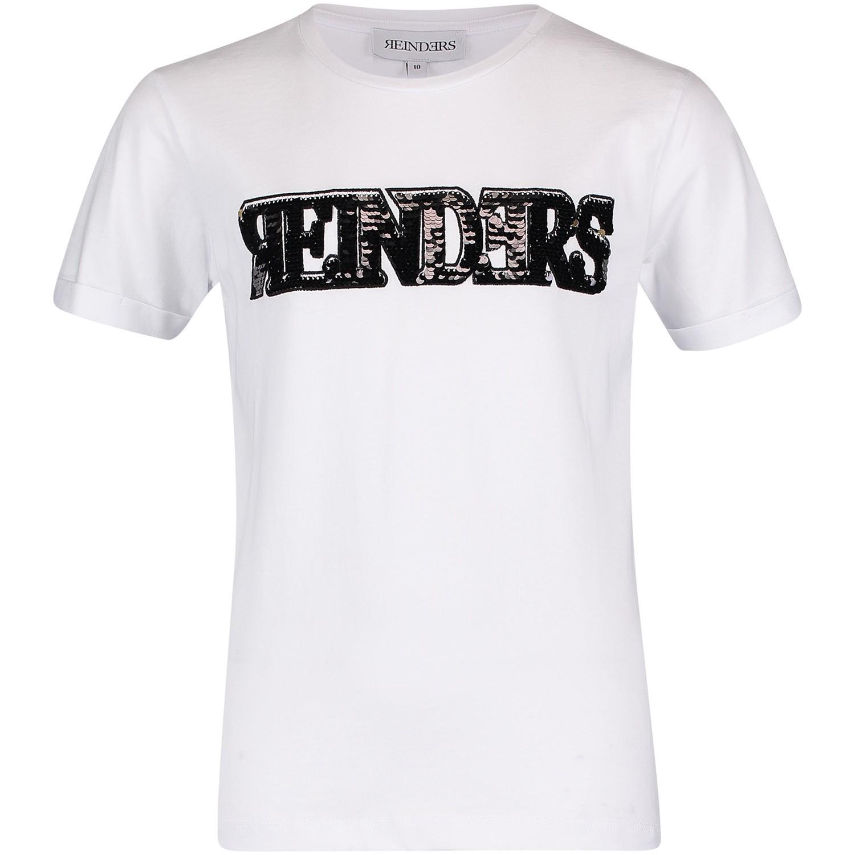 Afbeelding van Reinders TBW18G481X kinder t-shirt wit