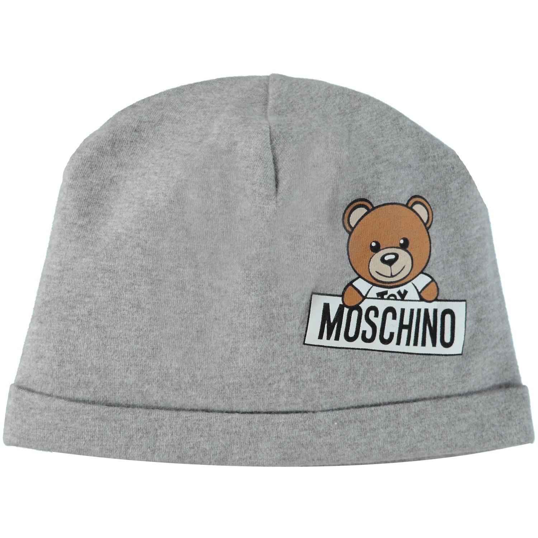 Afbeelding van Moschino MUX033 babymutsje licht grijs