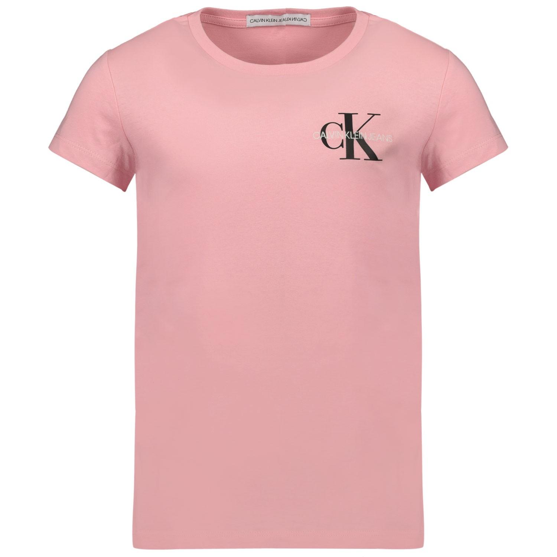 Afbeelding van Calvin Klein IG0IG00573 kinder t-shirt licht roze