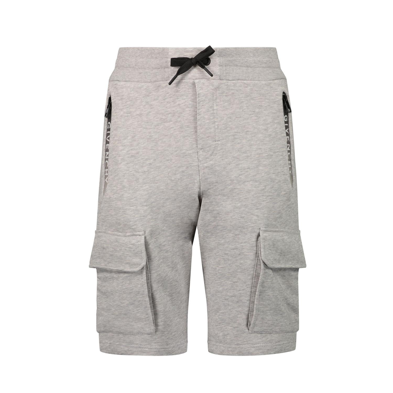 Afbeelding van Givenchy H24121 kinder shorts grijs