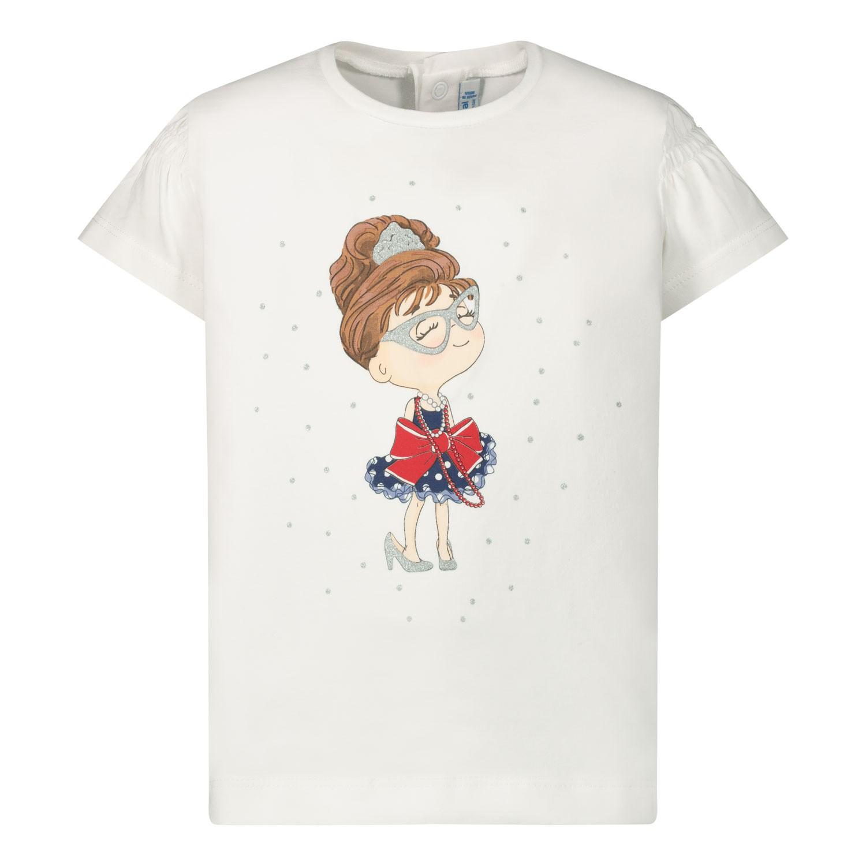 Afbeelding van Mayoral 1056 baby t-shirt wit/navy