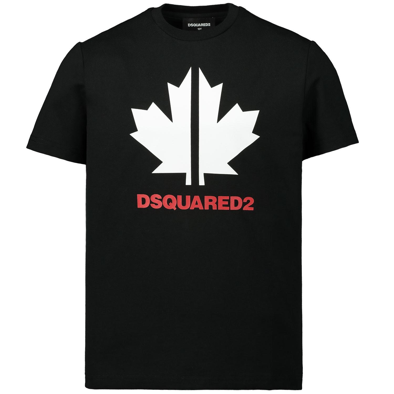 Afbeelding van Dsquared2 DQ03WD kinder t-shirt zwart