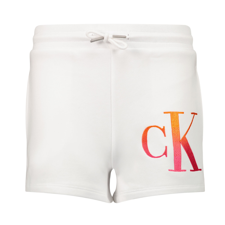 Afbeelding van Calvin Klein IG0IG00862 kinder shorts wit