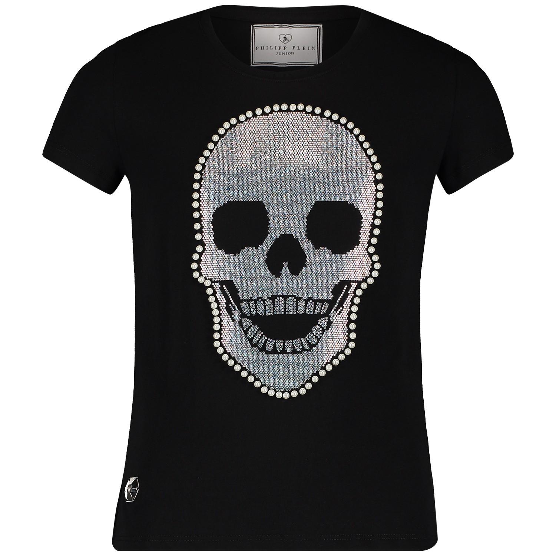 Zwart Plein Gtk0358 Bij Philipp T Meisjes Kinder Coccinelle Shirt XikPZTOu