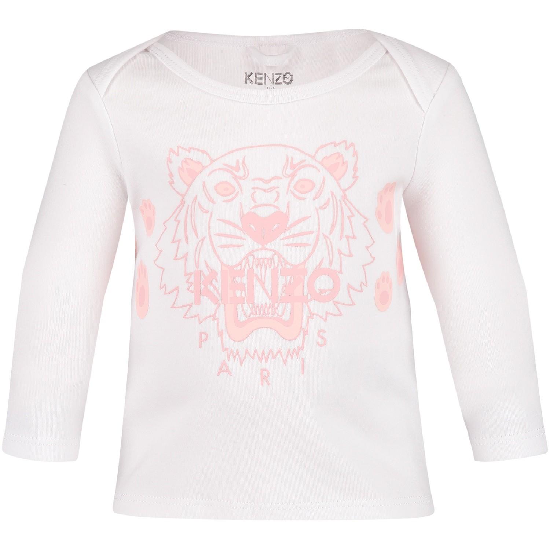 Afbeelding van Kenzo KM10003 baby t-shirt wit