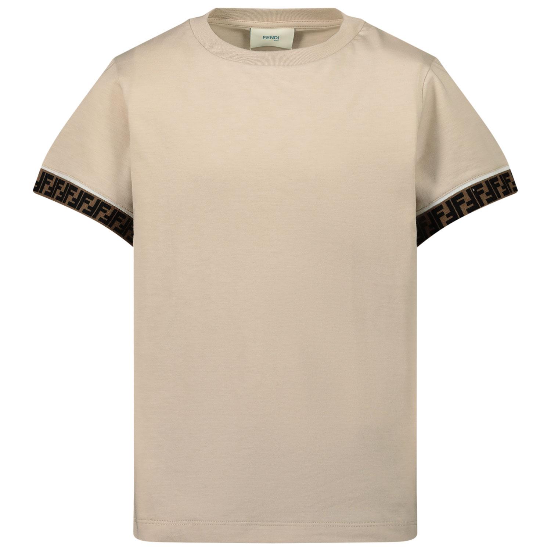 Afbeelding van Fendi JUI018 kinder t-shirt beige