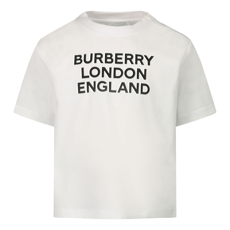 Afbeelding van Burberry 8028819 baby t-shirt wit