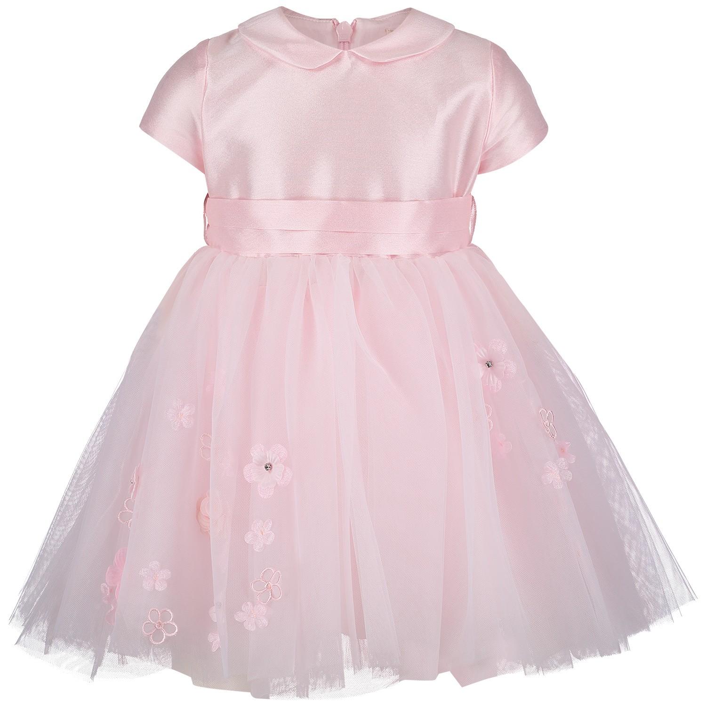 Afbeelding van MonnaLisa 733904AB babyjurkje licht roze