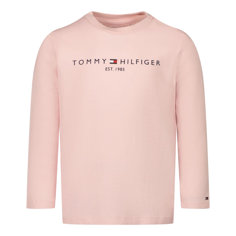 Afbeelding van Tommy Hilfiger KN0KN01249 baby t-shirt licht roze