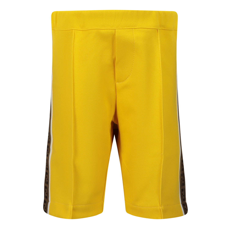 Afbeelding van Fendi BMF180 A69D baby shorts geel