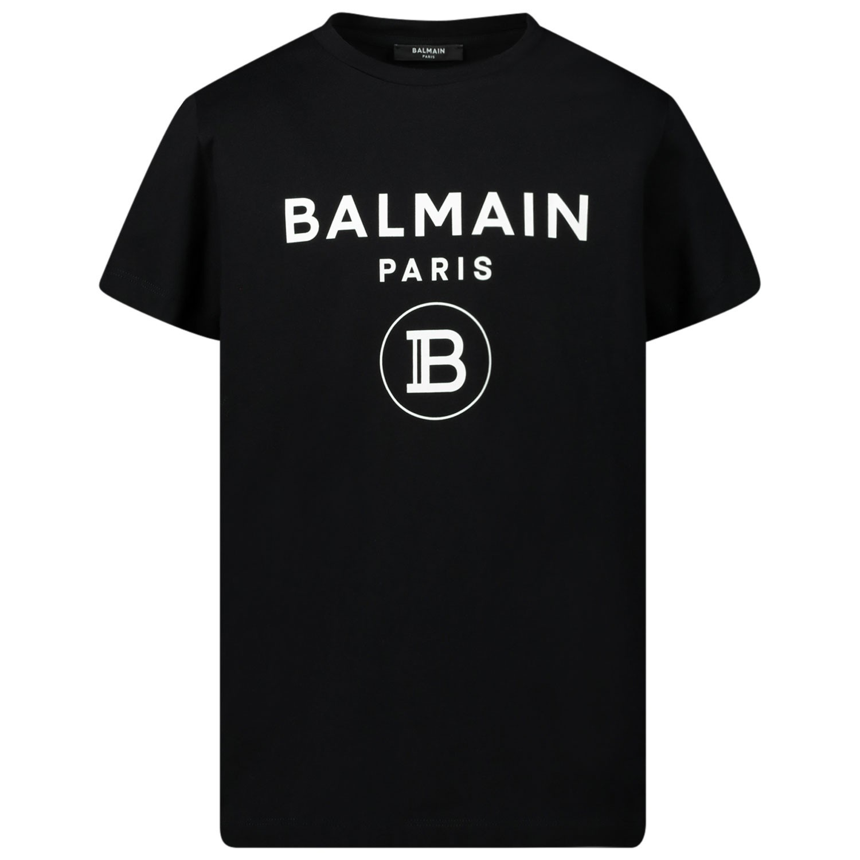 Afbeelding van Balmain 6M8701 kinder t-shirt zwart