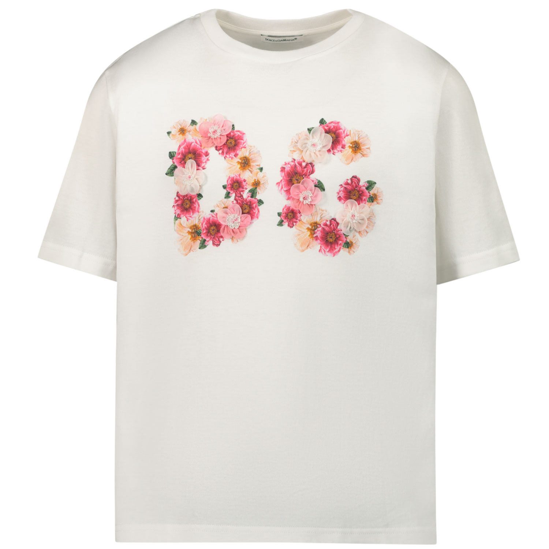 Afbeelding van Dolce & Gabbana L5JTAZ/G7XMC kinder t-shirt off white