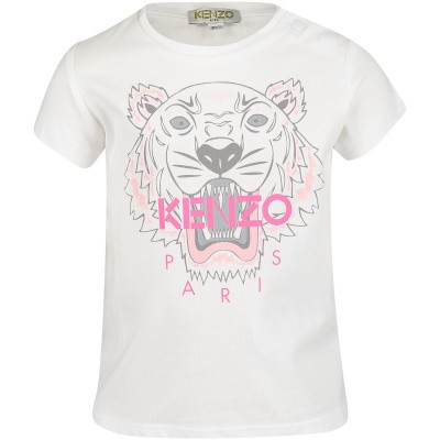 Picture of Kenzo KN10168BB baby shirt white