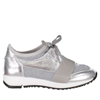 Picture of Coccinelle 6327 kids sneakers silver