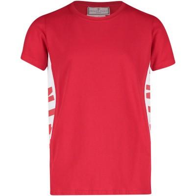 Picture of Philipp Plein BTK0695 kids t-shirt red