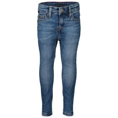 Afbeelding van Tommy Hilfiger KB0KB04918B babybroekje jeans