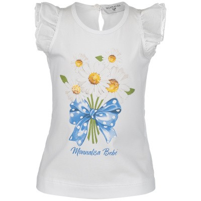 Picture of MonnaLisa 313618SZ baby shirt white