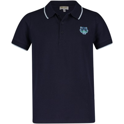 Picture of Kenzo KN11558 kids polo shirt navy