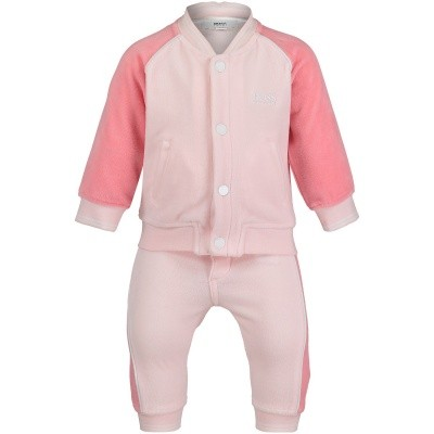 Afbeelding van Boss J98229 babysetje roze