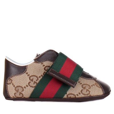 Picture of Gucci 285206 baby sneakers brown