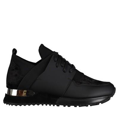 Afbeelding van Mallet TE1016VELVET dames sneakers zwart