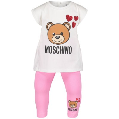 Picture of Moschino MDK01C baby set pink