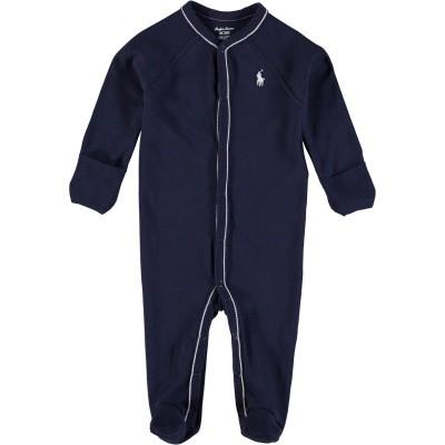 Picture of Ralph Lauren 320552445 baby playsuit navy