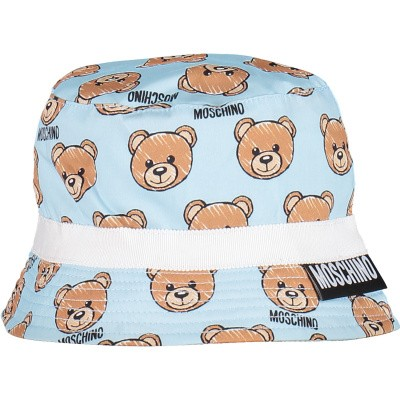 Picture of Moschino MVX032 baby hat light blue