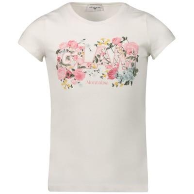 Afbeelding van MonnaLisa 114602SD kinder t-shirt off white
