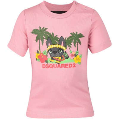 Picture of Dsquared2 DQ03E7 baby shirt light pink