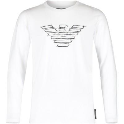 Afbeelding van Armani 6Z4TF2 kinder t-shirt wit