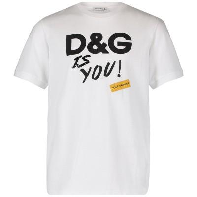 Picture of Dolce & Gabbana L5JT9Z G7RUJ kids t-shirt white