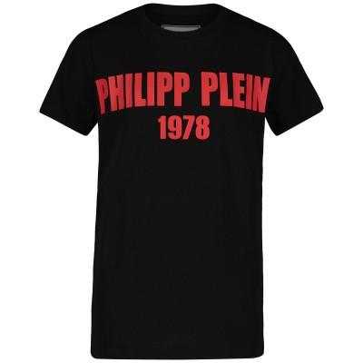 Picture of Philipp Plein BTK0669 kids t-shirt black
