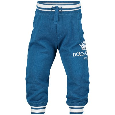 Picture of Dolce & Gabbana L1JPT0 G7QPD baby pants petrol