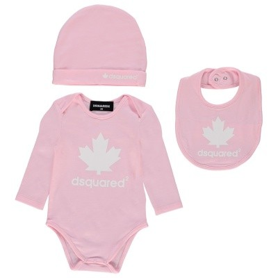 Afbeelding van Dsquared2 DQ02BX babysetje licht roze