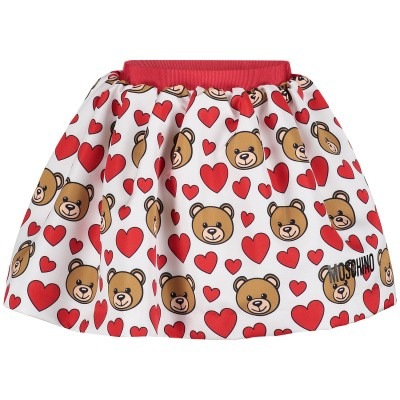 Picture of Moschino MDJ00R baby skirt red