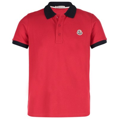 Afbeelding van Moncler 8307850 kinder polo rood