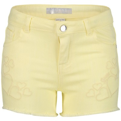 Picture of Guess K92D02 kids shorts yellow