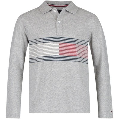 Picture of Tommy Hilfiger KB0KB04329 kids polo shirt grey
