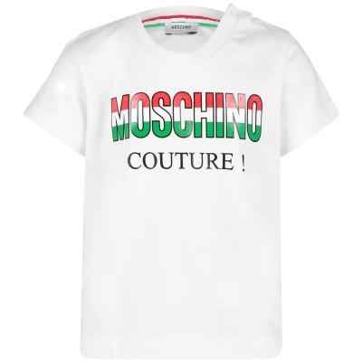 Afbeelding van Moschino MMM021 baby t-shirt wit